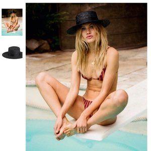 Lack of Color - The Spencer Noir Straw Boater Hat